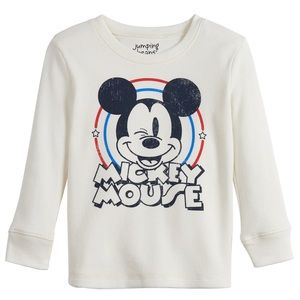 NWT Jumping Beans Mickey Mouse Toddler Thermal Tee